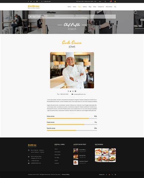 restaurant profile template choice image templates
