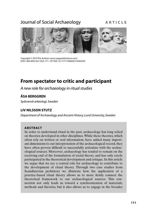 (PDF) From spectator to critic and participant