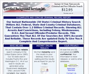 Nationwide Criminal Record Check Criminalcbs Certified Background Services Instant Nationwide Criminal