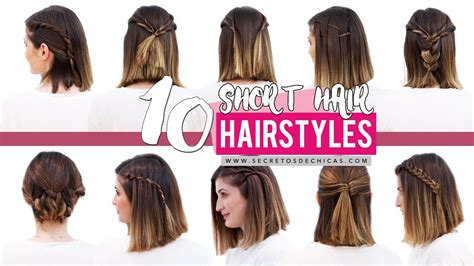 quick and easy hairstyles for short hair step by step 10 quick and easy hairstyles for short hair patry jordan