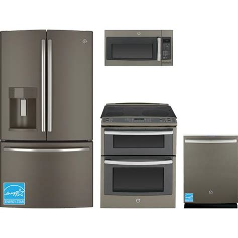 complete kitchen appliance packages ge slate complete kitchen package gye22kmhes