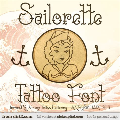 tattoo fonts zip file sailorette font 1001 free fonts