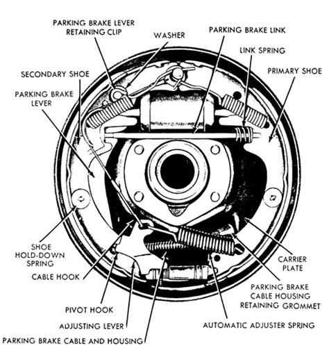 ford drum brake diagram 91 ford ranger drum brake diagram