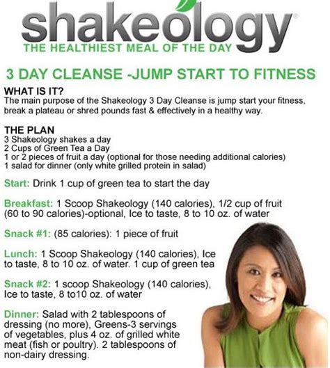 3 Day Detox Pdf by Shakeology Cleanse Diet