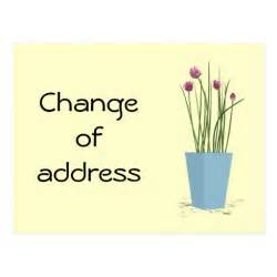 address cards templates chives change of address card template postcard zazzle