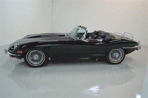 Ac 2503 Black 1969 jaguar e type roadster series 2 black black leather interior canvas top classic