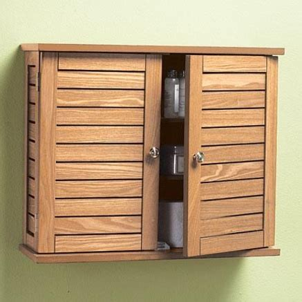 Oak Bathroom Wall Cabinets Oak Finish Bathroom Wall Cabinet