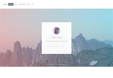 id card html css template 50 fresh resources for designers october 2015
