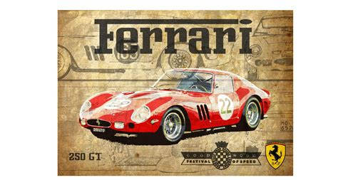 vintage ferrari art pin vintage car poster dictionary art print by