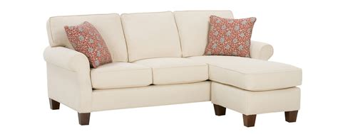 Sofa Apartment by Upholstered Rolled Arm Sofa With Reversible Chaise