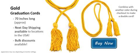 Types Of Mba School Cords by Gold Graduation Cords Honor Cords Of Gold In Three