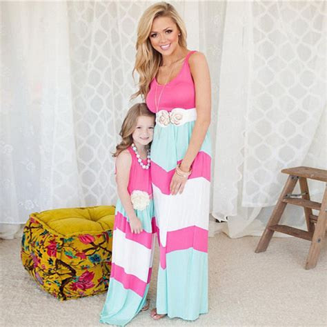 mother and daughter matching dress 2017 summer matching mother daughter dresses clothes long