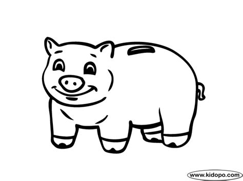 Free Coloring Pages Of Piggy Bank Piggy Bank Coloring Page