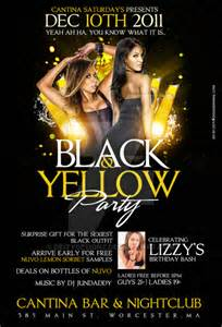 black and yellow party flyer by deitydesignz on deviantart