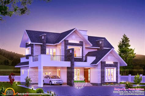 House Designs And Floor Plans In Kerala by Super Dream Home Kerala Home Design And Floor Plans