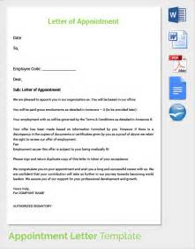 Ceo Contract Template by Sle Appointment Letter 28 Free Documents In