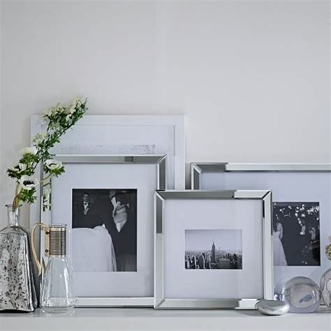 mirrored picture frames mirror gallery frames west elm