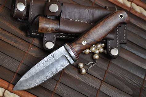 Handmade Knives Uk - custom damascus knife act perkin