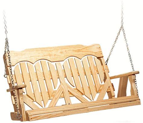 heart swing 4 high back heart swing 187 amish woodwork