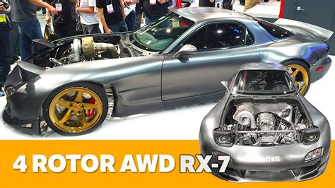 rob dahm rx7 the world s first awd 4 rotor rx 7 preview youtube