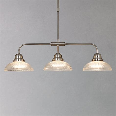 3 Light Glass Pendant Buy Lewis George Ribbed Glass Bar Pendant 3 Light Lewis
