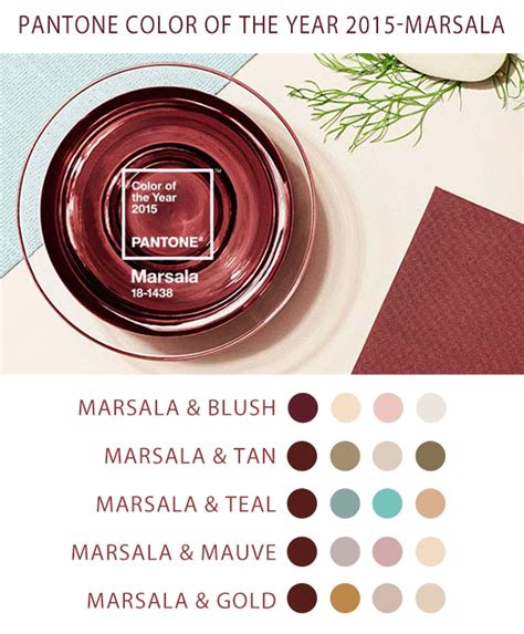 pantone color of the year 2015 marsala wedding color