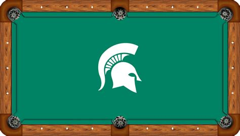 michigan state spartans 8 pool table felt pool table