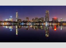 wallpaper Boston skyline, city, night HD : Widescreen ... London Skyline At Night From Above