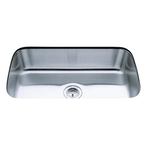 Kohler Stainless Steel Kitchen Sink Shop Kohler Undertone 17 75 In X 31 5 In Single Basin Stainless Steel Undermount Residential