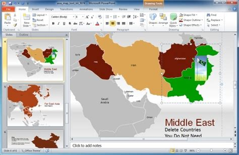 Asia Map Template For Powerpoint Presentations Eye Catching Powerpoint Templates