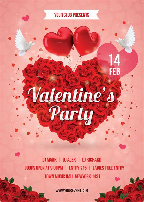valentines event day flyer by infinite78910 graphicriver
