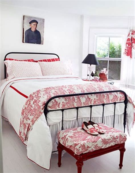 red toile bedroom red white bedroom white rooms pinterest