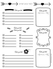journal page template free bullet journal printables
