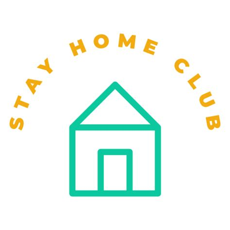 stay home club badge transparent png svg vector file