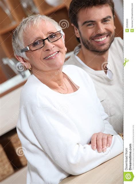 ohmbre for older women young man with older woman stock photo image of close