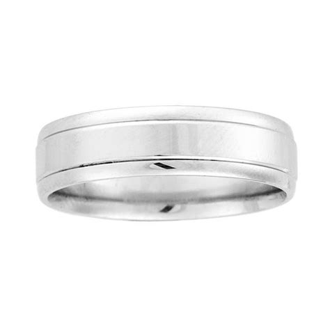 6mm wide mens wedding band with a high classic 3