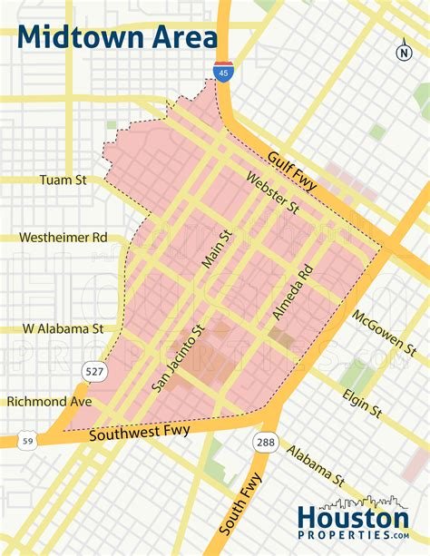 houston map bars midtown houston real estate homes neighborhood guide