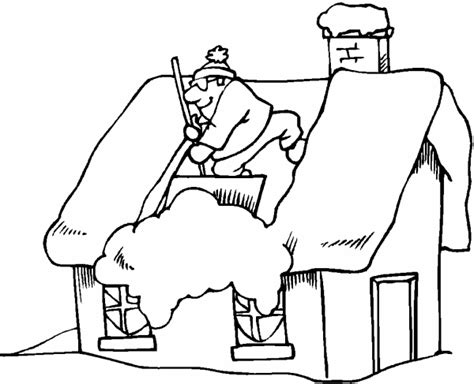 man with snow plow pages coloring pages