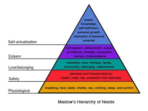 layout hierarchy abraham maslow s hierarchy of needs ux pinterest