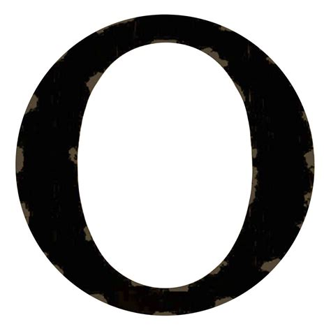 Letter Pic distressed black letter o 12 in at home at home