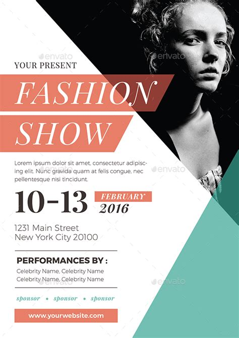 templates for fashion show flyers fashion show flyer by vynetta graphicriver