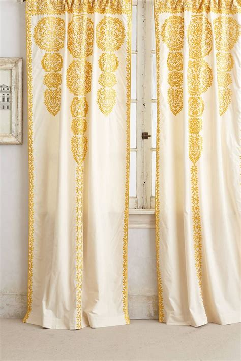 Yellow Patterned Curtains Marrakech Curtain Anthropologie Sweet Digs Pinterest