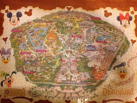 disneyland decorative border puzzle map disneyland puzzle accomplished