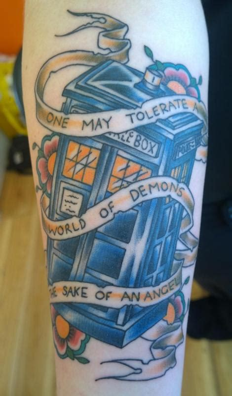 dr who tardis tattoo by chloe deboo tattoos