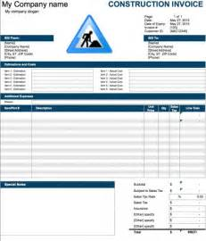 builders invoice template free construction invoice template excel pdf word doc
