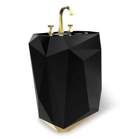 Freestand Bathtub Silver Leaf Black Jewel Free Standing Washbasin