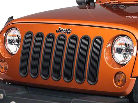 rugged ridge billet grille inserts in black rugged ridge wrangler black billet aluminum grille inserts 11401 30 07 17 wrangler jk free