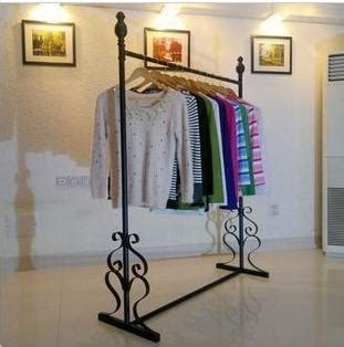 Tempat Penyimpanan Baju Cloth Organizer 3 Window Storage clothing hanger floor stand wrought iron clothes rack clothing store display in storage