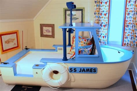 great sea themed furniture for girls and boys bedrooms by little boy boat bed custom made it floats we do