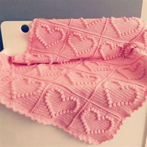 heart pattern afghan bobble heart crochet blanket free knitting pattern